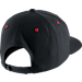 Back view of Jordan Jumpman Snapback Hat in Black/Gym Red