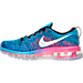 Left view of Women's Nike Flyknit Air Max Running Shoes in 014