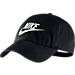 Front view of Nike Heritage 86 Futura Adjustable Hat in Black