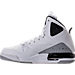 Left view of Boys' Grade School Jordan SC-3 Basketball Shoes in White/Dark Grey/Cement Grey