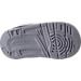 Bottom view of Boys' Toddler Jordan Flight SC-3 Basketball Shoes in White/Dark Grey/Cement Grey