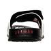Back view of Men's Jordan Hydro Retro 6 Slide Sandals in White/Gym Red/Black