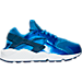 Right view of Women's Nike Air Huarache Running Shoes in Blue Spark/Coastal Blue
