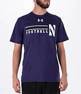 Men's Under Armour Northwestern Wildcats College Onfield Football T-Shirt