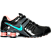 Right view of Women's Nike Shox Current Running Shoes in Black/Hyper Turq/Dark Grey