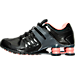 Left view of Women's Nike Shox Current Running Shoes in Black/Hyper Turq/Dark Grey