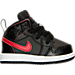 Right view of Boys' Toddler Jordan Retro 1 Mid Basketball Shoes in 039