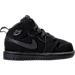 Right view of Boys' Toddler Jordan Retro 1 Mid Basketball Shoes in Black/White/Black