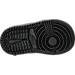 Bottom view of Boys' Toddler Jordan Retro 1 Mid Basketball Shoes in Black/White