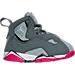 Right view of Girls' Toddler Jordan True Flight Basketball Shoes in Cool Grey/Vivid Pink