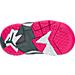 Bottom view of Girls' Toddler Jordan True Flight Basketball Shoes in Cool Grey/Vivid Pink