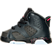 Left view of Girls' Toddler Air Jordan Retro 6 Basketball Shoes in Anthracite/Black/Hyper Pink