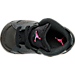 Top view of Girls' Toddler Jordan Retro 6 Basketball Shoes in Anthracite/Black/Hyper Pink