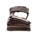 Front view of Men's Skechers Open Toe Strapped Sandals in Chocolate Brown