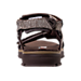 Back view of Men's Skechers Open Toe Strapped Sandals in Chocolate Brown