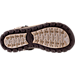 Bottom view of Men's Skechers Open Toe Strapped Sandals in Chocolate Brown