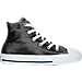 Right view of Girls' Preschool Converse Chuck Taylor All Star Hi Casual Shoes in Black Shimmer Shine