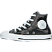 Left view of Girls' Preschool Converse Chuck Taylor All Star Hi Casual Shoes in Black Shimmer Shine