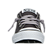 Front view of Boys' Preschool Converse Chuck Taylor High Street Ox Casual Shoes in Grey/White/Black