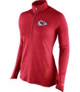 Women's Nike Kansas City Chiefs NFL Element Half-Zip Shirt