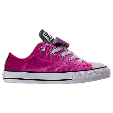 Girls' Preschool Converse Chuck Taylor All Star Velvet Double Tongue Casual Shoes