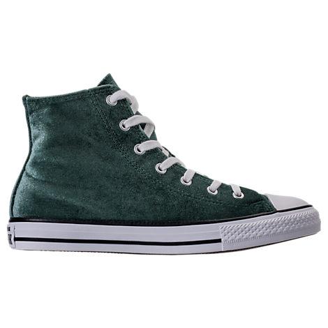 Girls' Grade School Converse Chuck Taylor High Top Velvet Casual Shoes