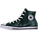 Left view of Girls' Grade School Converse Chuck Taylor High Top Velvet Casual Shoes in Deep Emerald/White