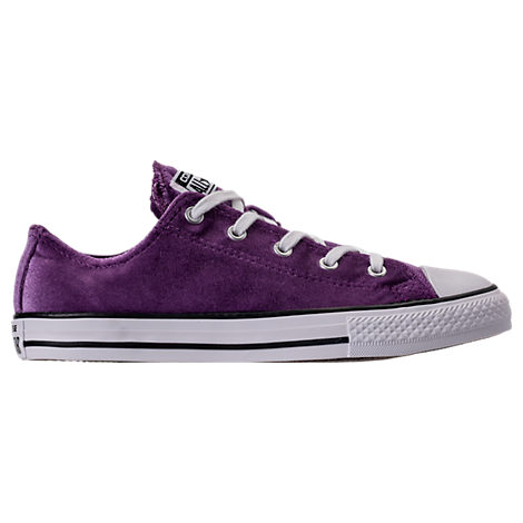 Girls' Grade School Converse Chuck Taylor Ox Velvet Casual Shoes