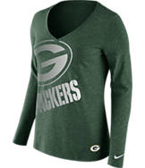 Women's Nike Green Bay Packers NFL Wrapped Long-Sleeve Shirt