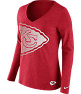 Women's Nike Kansas City Chiefs NFL Wrapped Long-Sleeve Shirt