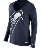 Women's Nike Seattle Seahawks NFL Wrapped Long-Sleeve Shirt