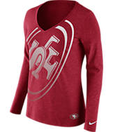 Women's Nike San Francisco 49ers NFL Wrapped Long-Sleeve Shirt