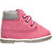 Right view of Girls' Toddler Timberland 6-Inch Classic Boots in Pink