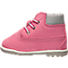 Left view of Girls' Toddler Timberland 6-Inch Classic Boots in Pink