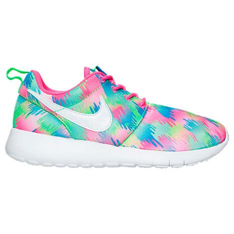 Girls Grade School Nike Roshe One Print Casual Shoes