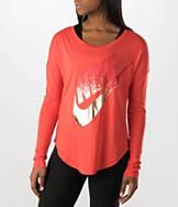 Women's Nike Signal Metallic Long-Sleeve Shirt