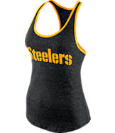 Women's Nike Pittsburgh Steelers NFL Marled Tank