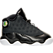 Right view of Girls' Toddler Jordan Retro 13 Basketball Shoes in Black/Anthracite/Hyper Pink