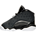 Left view of Girls' Toddler Jordan Retro 13 Basketball Shoes in Black/Anthracite/Hyper Pink
