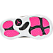 Bottom view of Girls' Toddler Jordan Retro 13 Basketball Shoes in Black/Anthracite/Hyper Pink