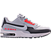 Right view of Men's Nike Air Max LTD 3 Premium Running Shoes in Wolf Grey/Bright Crimson