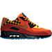 Right view of Men's Nike Air Max 90 Premium Running Shoes in Dark Cayenne/Cognac/Gold Suede