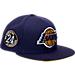 Front view of New Era Los Angeles Lakers NBA Kobe Bryan 20 Years Snapback Hat in Purple