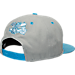 Back view of New Era Charlotte Hornets NBA 9FIFTY Snapback Hat in Grey/Teal