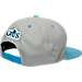 Back view of New Era Cleveland Cavaliers NBA 9FIFTY Snapback Hat in Grey/Teal