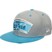 Front view of New Era San Antonio Spurs NBA 9FIFTY Snapback Hat in Grey/Teal