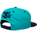 Back view of New Era Charlotte Hornets NBA 9FIFTY Snapback Hat in Purple/Teal
