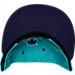 Alternate view of New Era Golden State Warriors NBA 9FIFTY Snapback Hat in Purple/Teal
