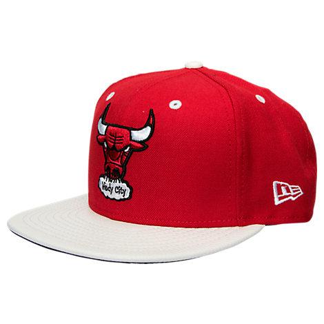 New Era Chicago Bulls NBA Pebbled Visor 9FIFTY Snapback Hat
