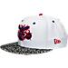 Front view of New Era Charlotte Hornets NBA Retro 3 OG Hook Snapback Hat in White